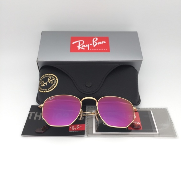 72e7afee6 get rb3548n gold metal ray ban hexagonal 5f8a1 7fe65